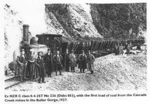 C Class on Cape Foulwind Railway